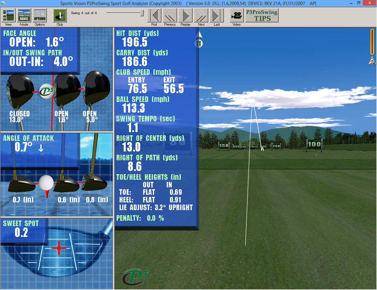 P3 GOLF SIMULATOR