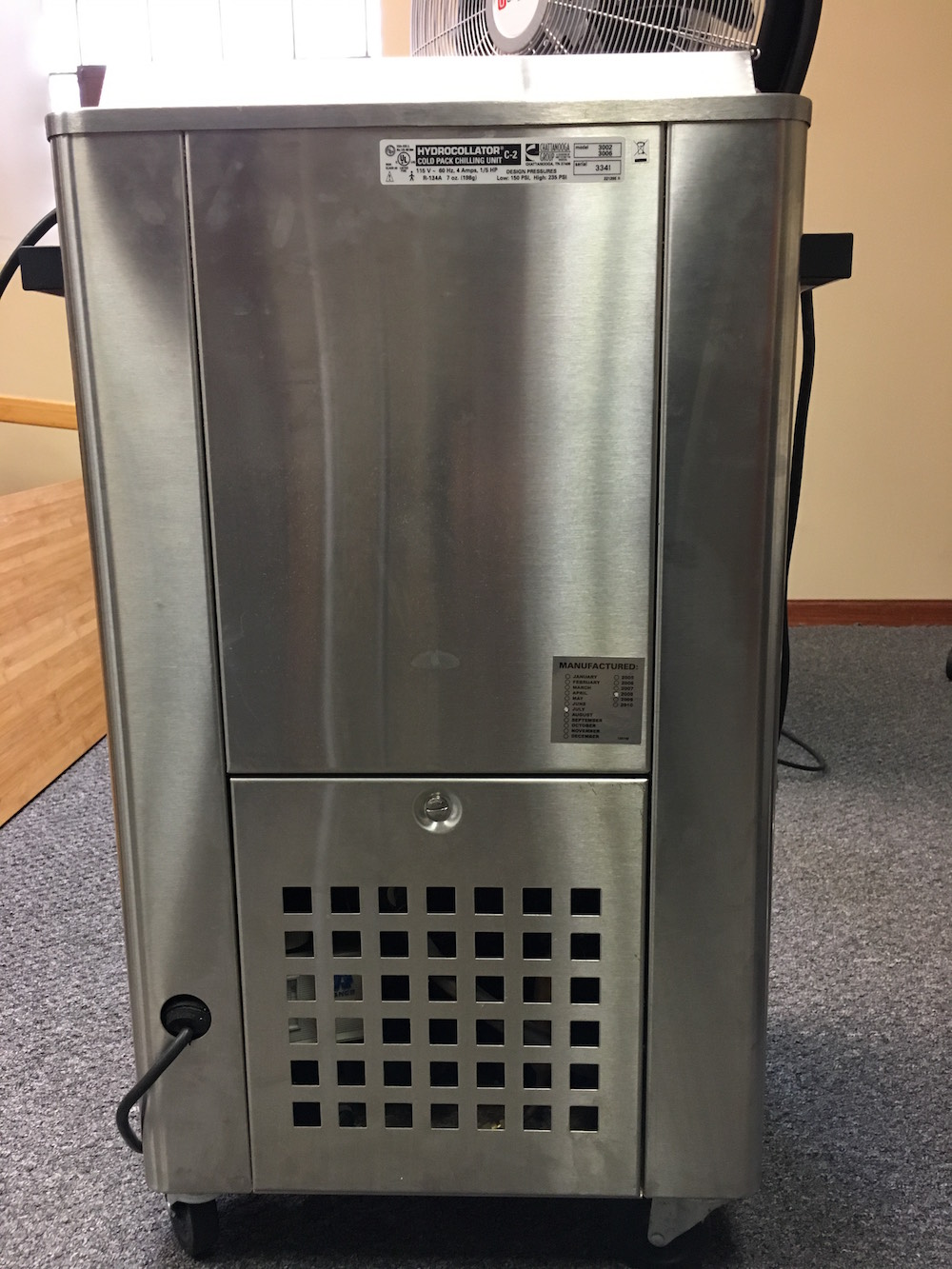 chattanooga cold pack machine