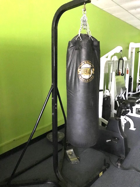 The Equipment Is Located In N.W. Florida. 6 OFFICE CHAIRS LIGHT GREEN...  $160; 5 BROWN CUSHION CHAIRS... $160; ANKLE WEIGHT/ DUMBBELL RACK HOLDER.