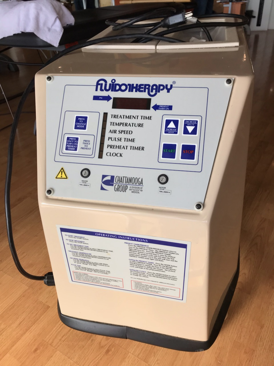 FLUIDOTHERAPY DOUBLE EXTEMITY UNIT